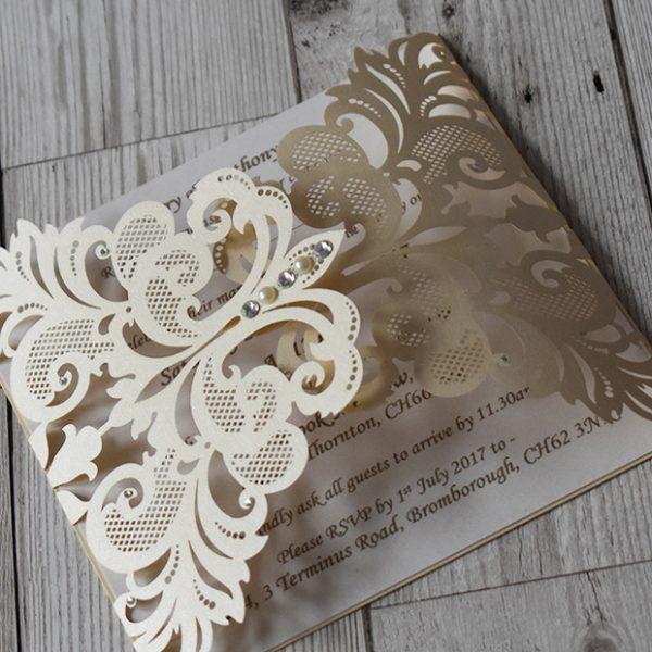 Laser Cut Wedding Invitations - Elizabeth-Rose Designs